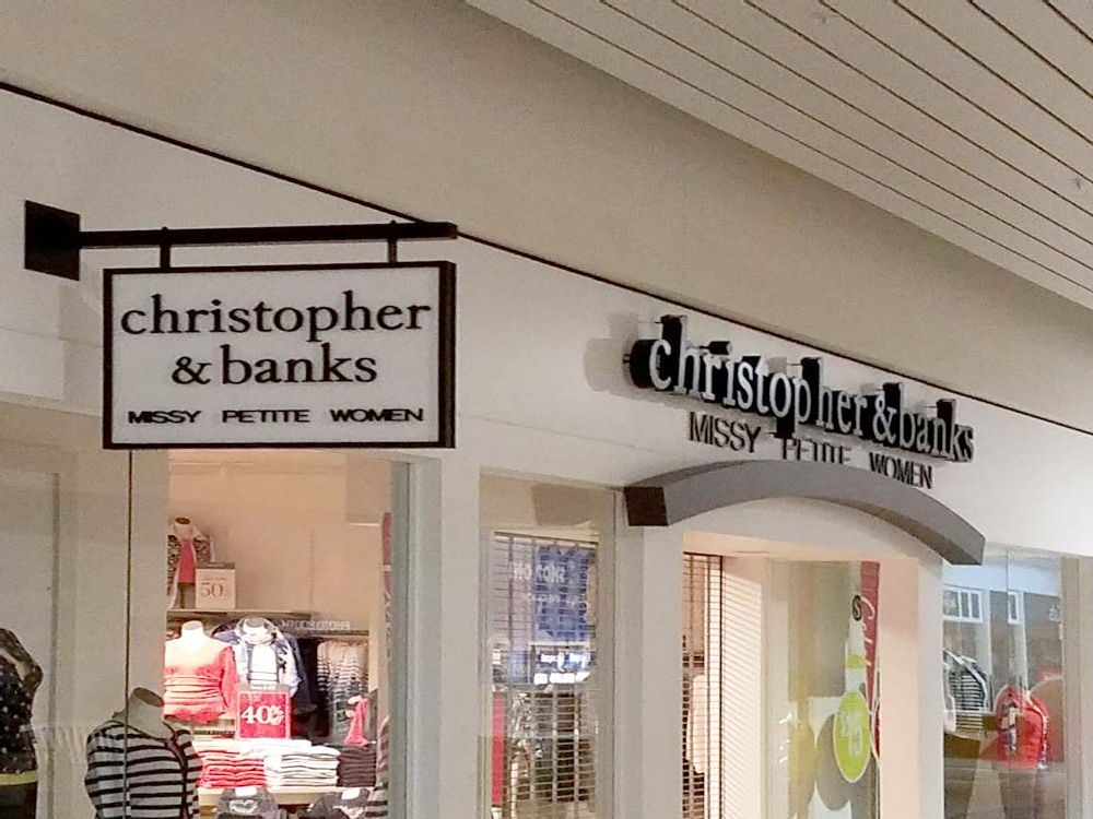 Christopher & Banks - Blade Sign - Oakwood Mall Eau Claire, WI