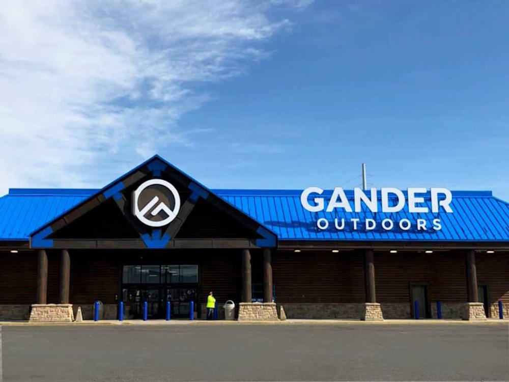 Gander Outdoors - Roof Mounted Channel Letters - Forest Lake, MN