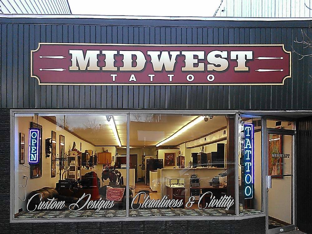 Midwest Tattoo - Building Sign - Eau Claire, WI