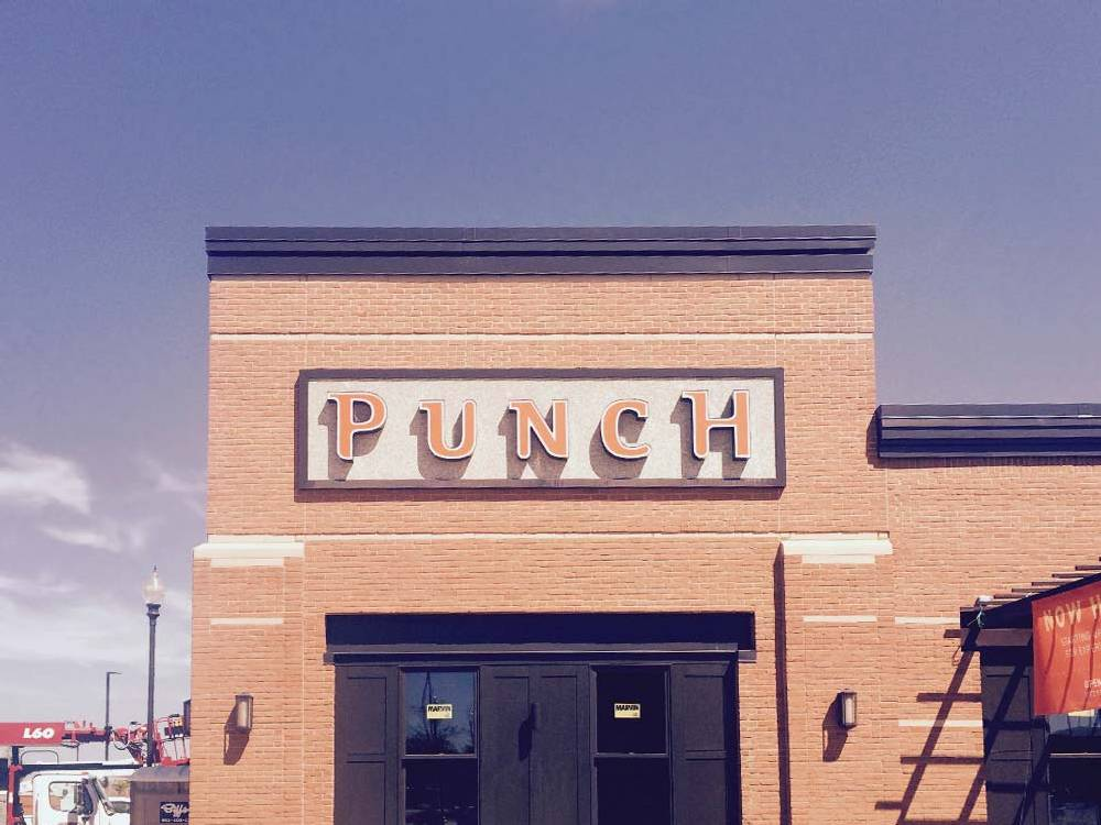 Punch Pizza - Building Sign - Eagan, MN