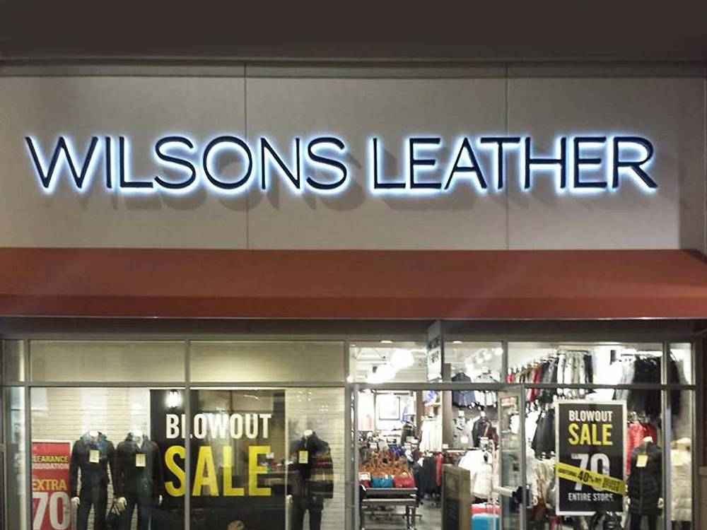 Wilsons Leather - Channel Letters - Eagan, MN