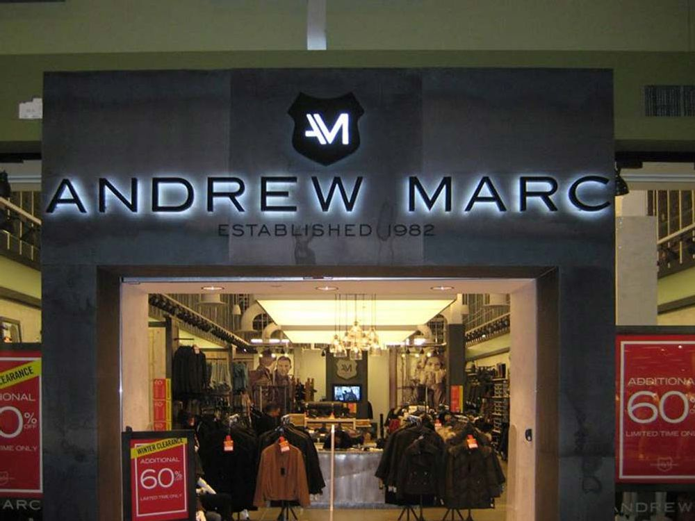 Andrew Marc - Channel Letters- Mall of America - Bloomington, MN