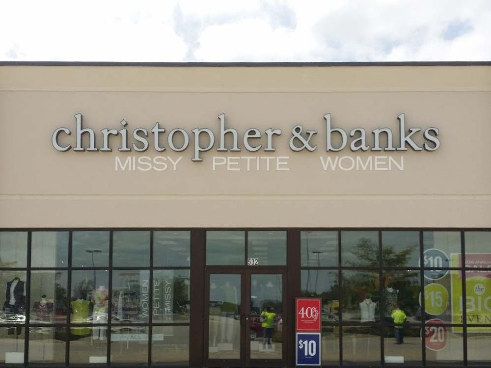 Christopher & Banks - Channel Letters with Flat Cut Out Letters - Roseville, MN
