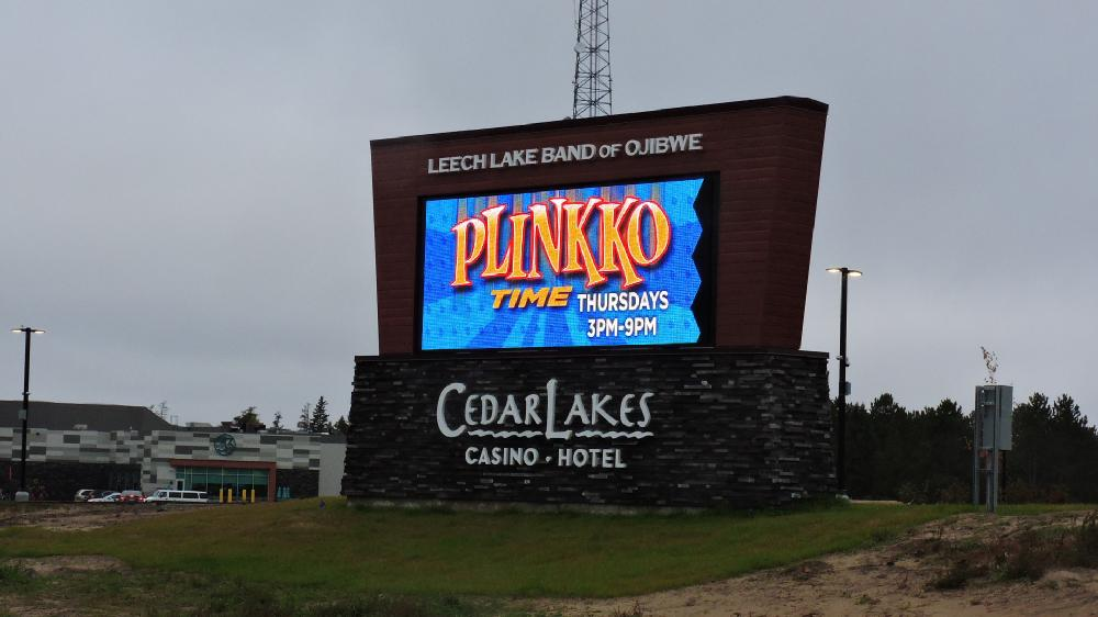 Cedar Lakes Casino & Hotel - Monument Sign - Cass Lake, MN