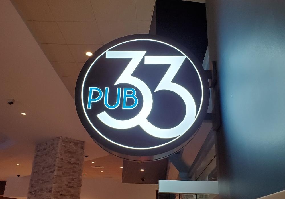 Cedar Lakes Casino & Hotel - Pub 33 Blade Sign - Cass Lake, MN