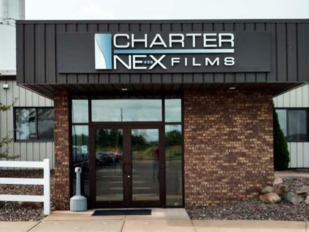 Charter Nex Films - Building Sign