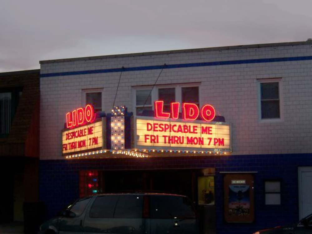 Lido Theater - Backlit Sign - Arlington, MN