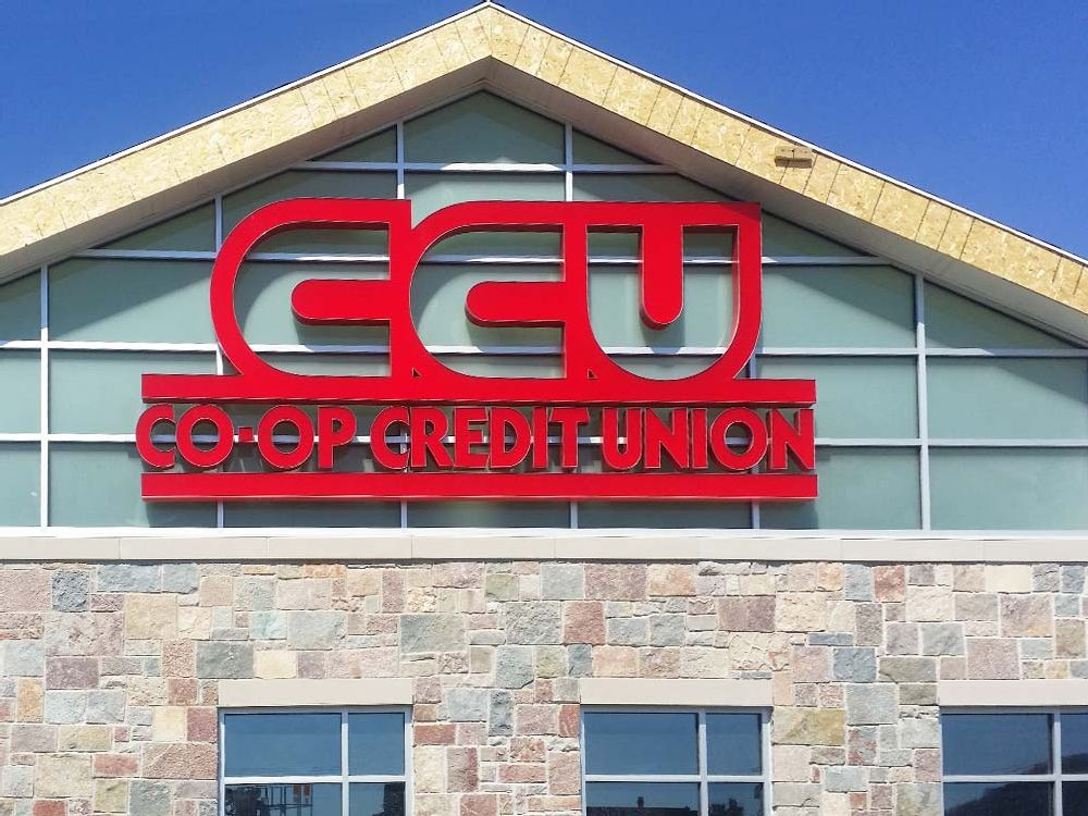 Co-op Credit Union - Building Sign