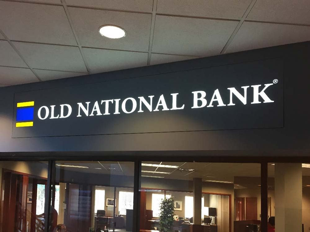 Old National Bank - Interior Sign