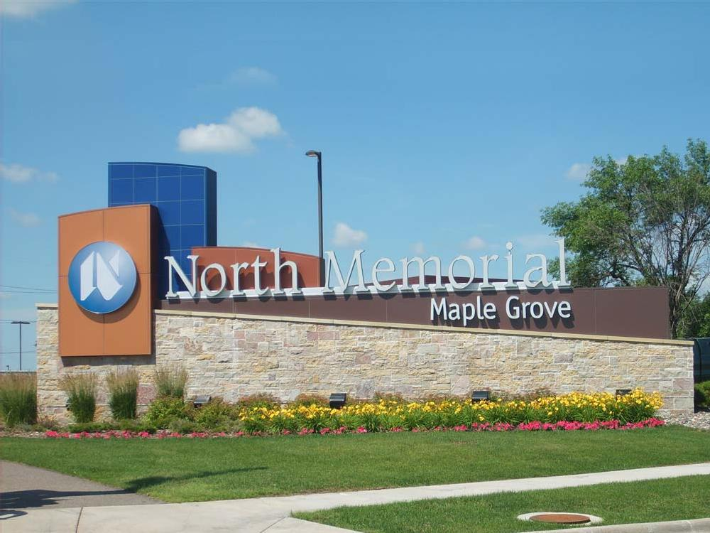 North Memorial Hospital - Monument Sign - Robbinsdale, MN