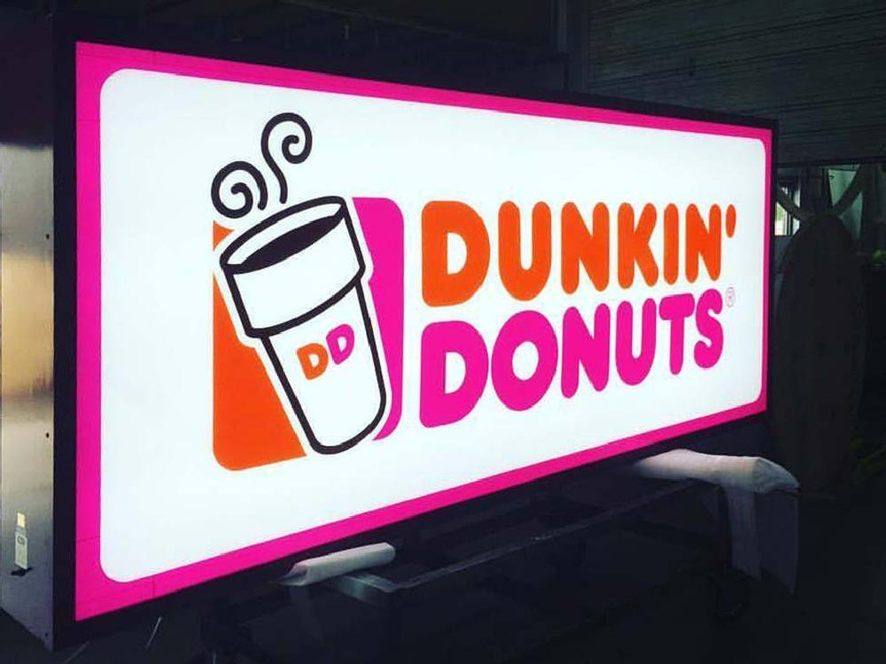 Dunkin Donuts - Cabinet Sign