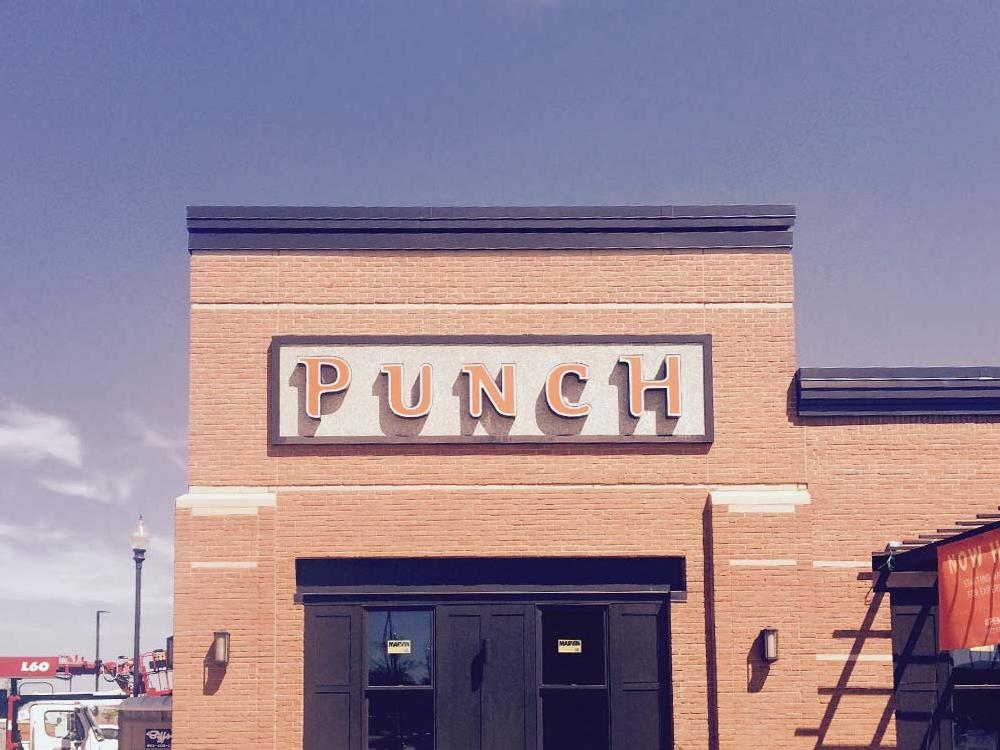 Punch Pizza - Building Sign