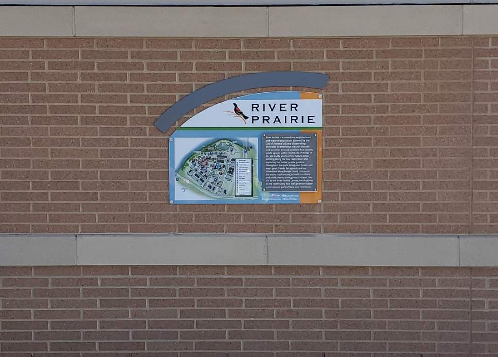 River Prairie Wayfinding System - Wall Sign - Altoona, WI