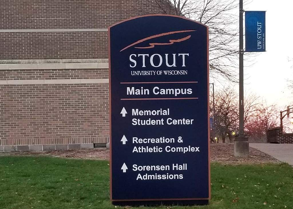 UW-Stout - Monument Sign - Menomonie, WI
