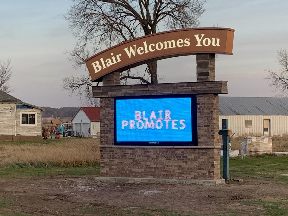 City of Blair - Monument Sign - Blair, WI