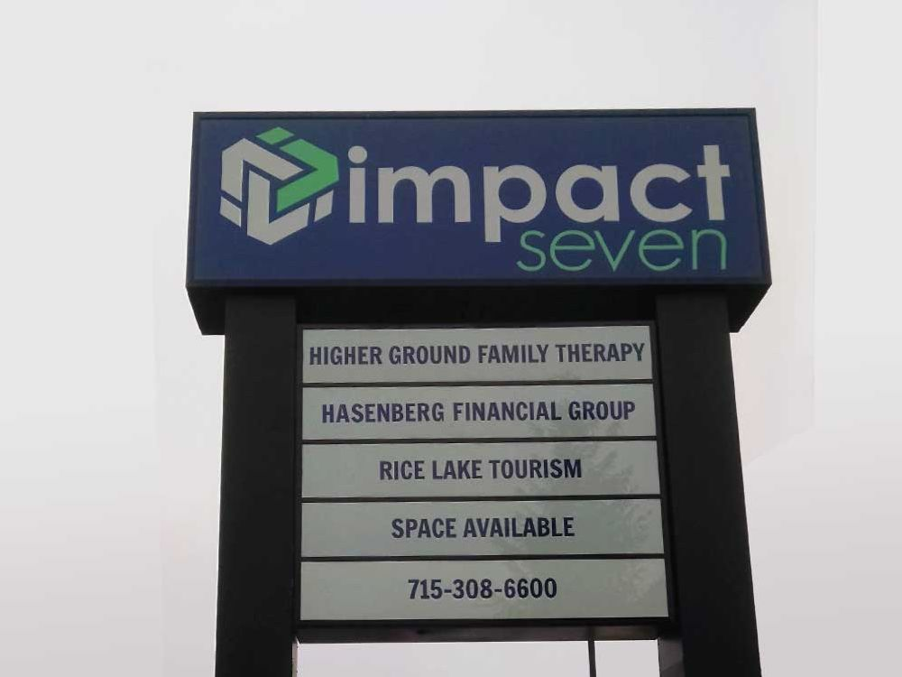 Impact Seven - Pylon Sign - Rice Lake, Mn