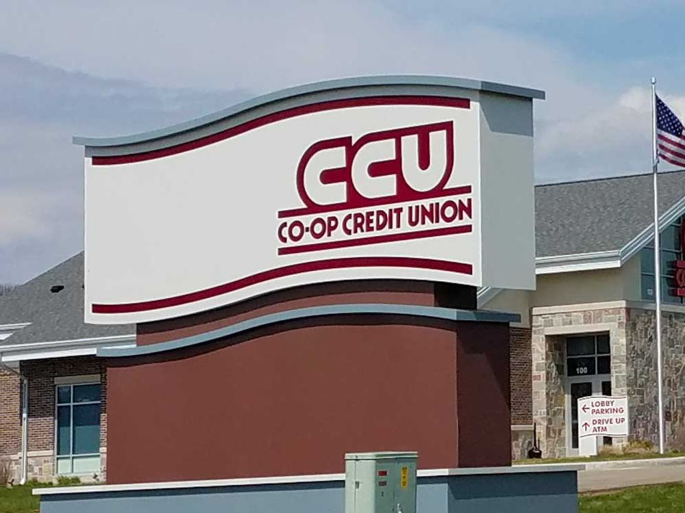 Co-op Credit Union - Monument Sign - Onalaska, WI