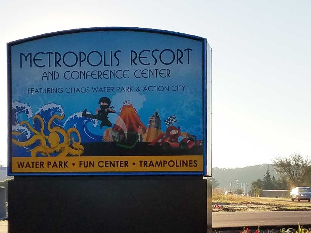 Metropolis Resort - Monument Sign - Eau Claire, WI
