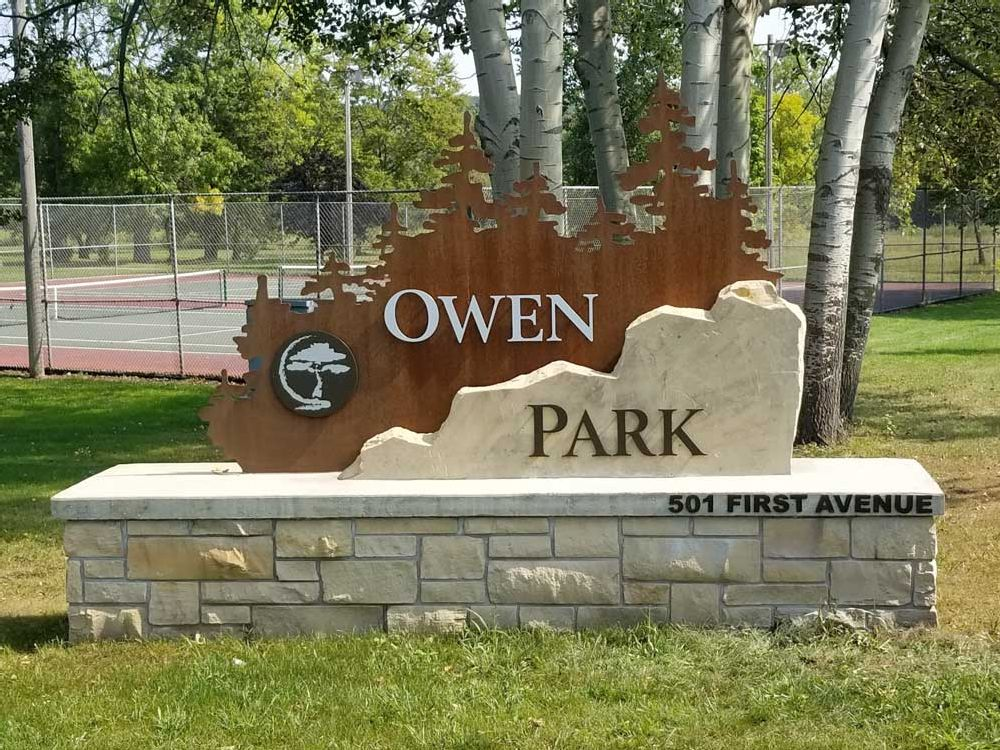 Owen Park - Monument Sign - Eau Claire, WI