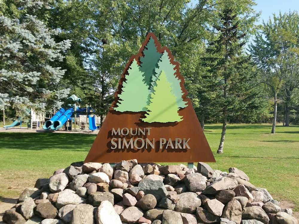 Mount Simon Park - Monument Sign - Eau Claire, WI